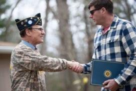 Greeting Young Veteran